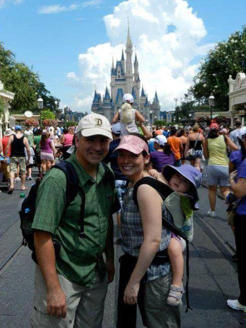 Babywearing Family in Disney