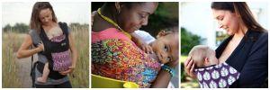 breastfeeding in a carrier